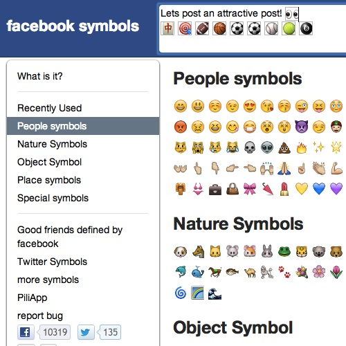 facebook colored symbols